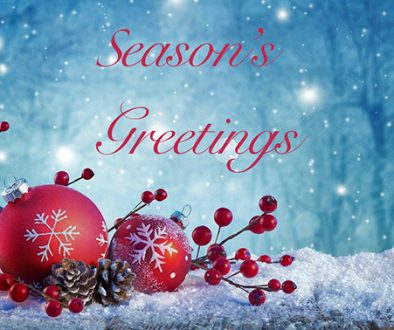 Season's Greetings – Christmas 2019 Opening Hours